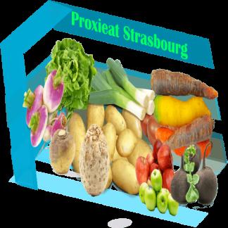 Panier de fruits et légumes Bio du petit strasbourgeoise