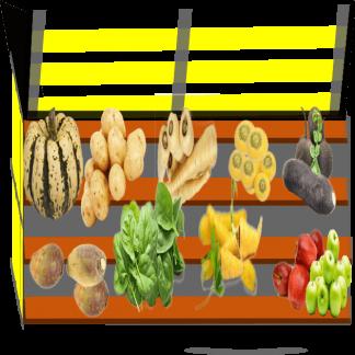 Panier de légumes Bio de variétés anciennes