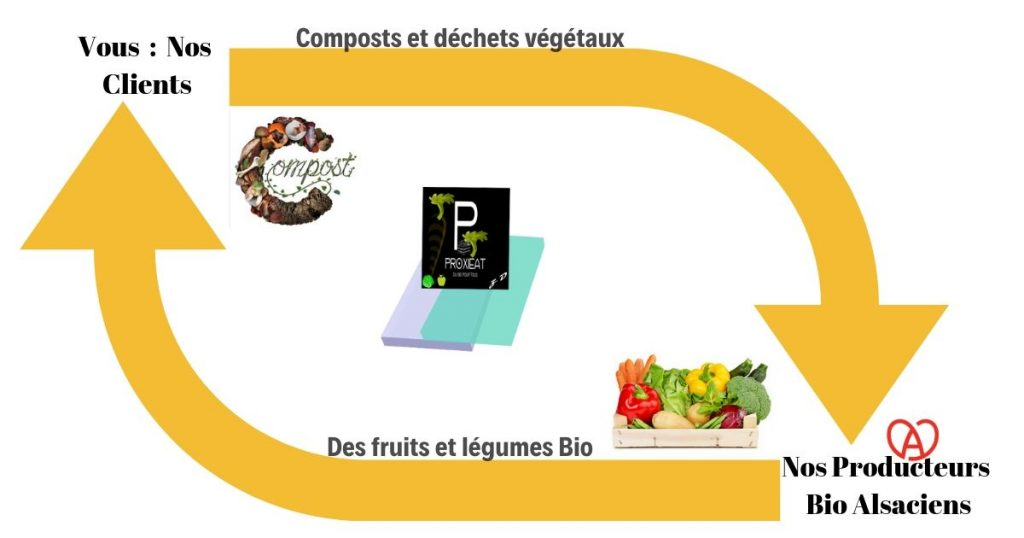 Illustration du concept de Proxieat