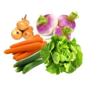 Image du petit panier Bio de l'été de fruits et légumes d'Alsace de l